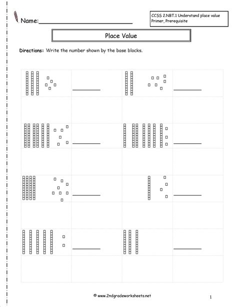Place Value Worksheets 2nd Grade by Base Ten Blocks Addition Worksheets Boxfirepress