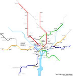 Us Metro Map by Washington Metro Map Travel Map Vacations
