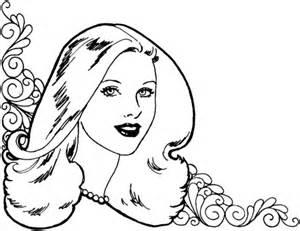 beautiful woman coloring page supercoloring com
