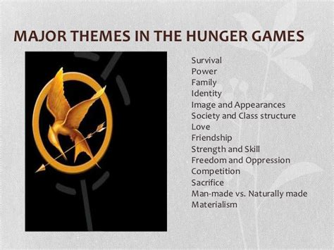 themes within the hunger games book club presentation