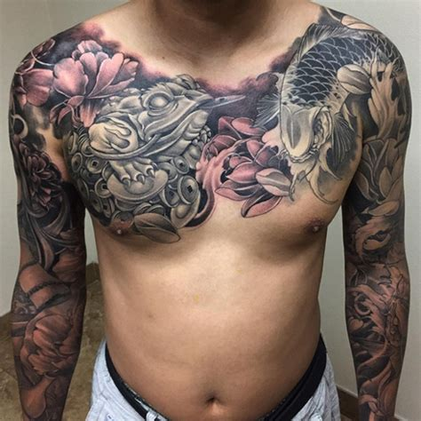 oriental tattoo on chest letter a tattoos
