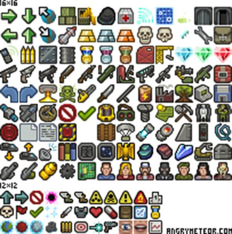 8 free icons png 16x16 140 icons set fixed opengameart org