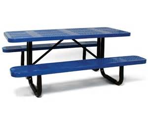 steel picnic table standard perforated metal picnic table