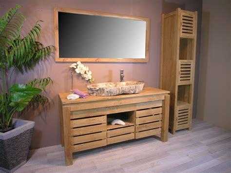 Meuble Tv Bois Recyclé by Cuisine Meuble Bois Salle De Bain Pas Cher Phioo Meuble