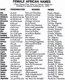 a selection of quot names from africa quot nancy s baby names