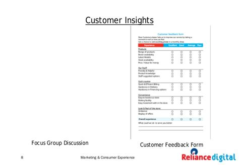 Reliance Digital How To Create A Power Brand In Retail Retail Store Feedback Form Template