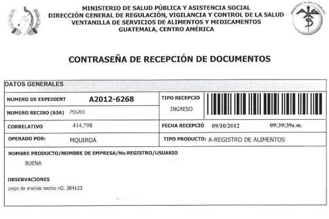 registros sanitarios de alimentos contrase 241 a recepci 243 n de documentos registro sanitario