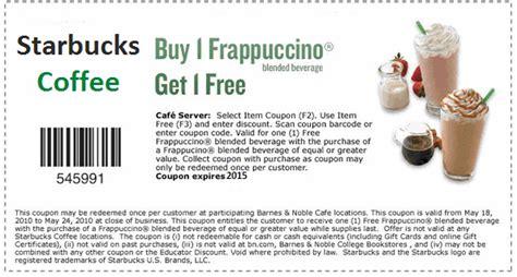 Starbucks Coupons Printable