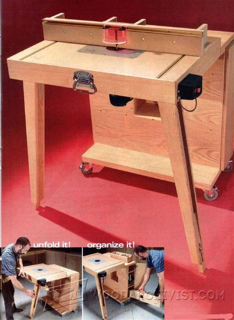 woodworking jigs and fixtures mobile router table plans woodarchivist