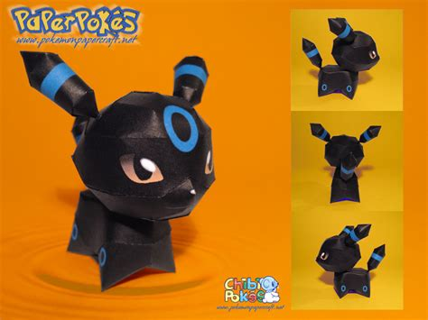 Papercraft Umbreon - chibi umbreon papercraft by lyrin 83 on deviantart