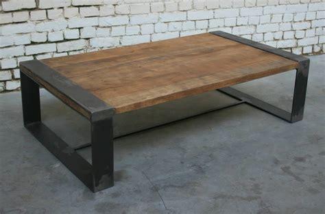 Table Bois Industriel by Table Basse R Tb006 Giani Desmet Meubles Indus Bois
