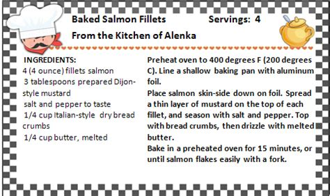 recipe template for microsoft word recipe card templates