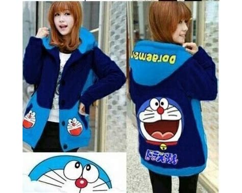 Blouse Doraemon baju korea jkt doraemon smile