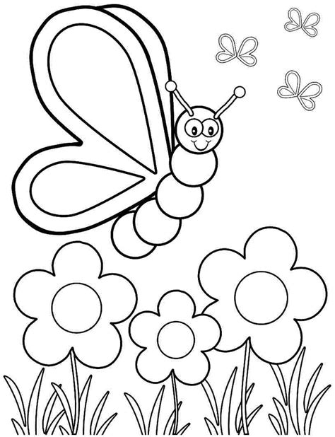 spring coloring pages toddlers spring coloring pages for kids bloodbrothers me