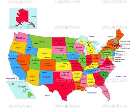 map of united states showing state capitals united states map with state names capitals pictures to