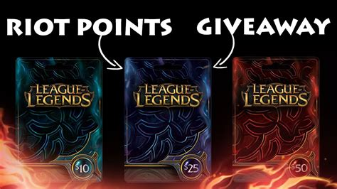 Rp Giveaway - closed 25 league of legends rp card giveaway youtube