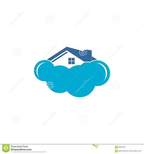 home cloud vector logo stock vector image of pattern