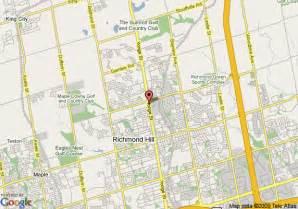 map of richmond hill ontario canada map of knights inn toronto richmond hill