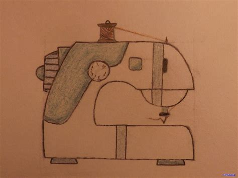 drawing on how to draw a sewing machine step by step stuff pop