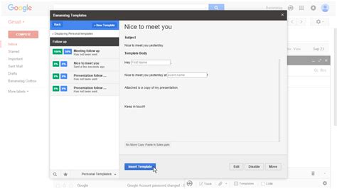 how to make template in gmail how to use email templates in gmail bananatag