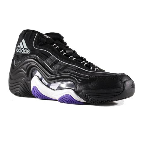 basketball shoes size 2 adidas 2 ii mens d73912 black purple basketball