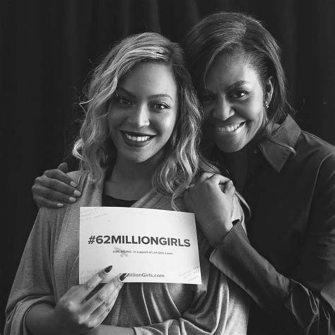 beyonce is in awe of michelle obama abc news beyonce joins michelle obama to support the 62 million