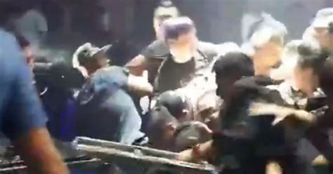 armchair throws uk nightclub revellers throw chairs and punches during