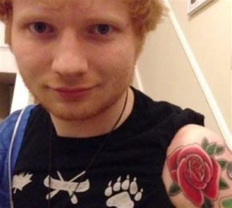 Ed Sheeran Rose Tattoo | ed sheeran celebrates the holidays with new red rose