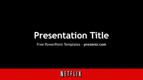 tv show powerpoint templates free netflix powerpoint template for prezentr