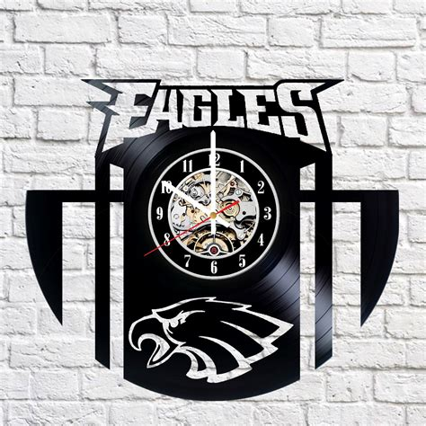 gifts for eagles fans philadelphia eagles handmade vinyl record wall clock fan