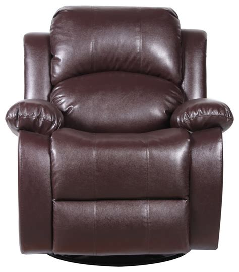 Divano Roma Furniture Bonded Leather Rocker And Swivel Leather Swivel Rocker Recliner Chair