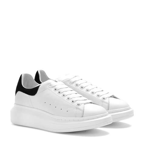 mcqueen sneakers womens lyst mcqueen leather sneakers in white
