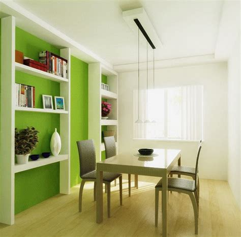Interior Design Of Small Dining Room Green Dining Room With Wall Storage Unit