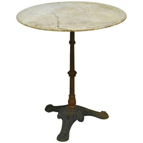 Marble Top Bistro Table by Parisian Marble Top Bistro Table For Sale At 1stdibs