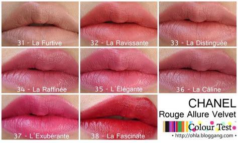 Harga Chanel Velvet No 34 31 la furtive 32 la ravissante 33 la distingu 233 e 34