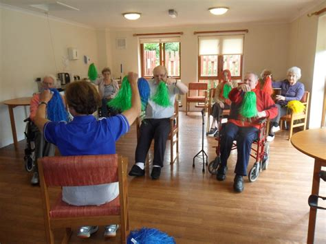 new year activities for nursing homes stirling care home enjoys great exercise classes to kick