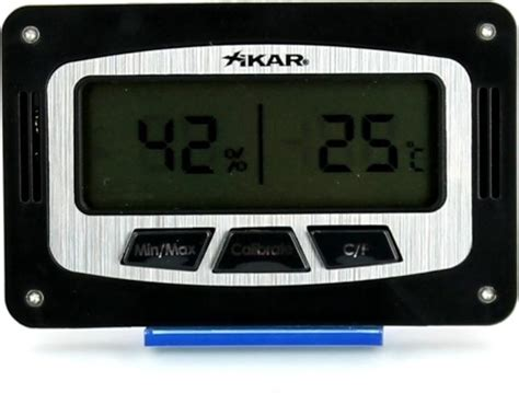 Thermometer Digital Corona xikar digital humidor hygrometer rectangular humidor