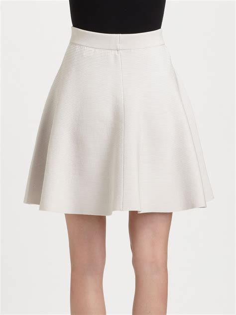 Pearl Knit Skirt white knit skirt fashion skirts