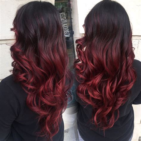 ombre hair coloring milwaukee dark brown to red ombre the beauty industry pinterest