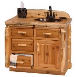 Rustic log bathroom vanity log cabin vanity pine log furniture