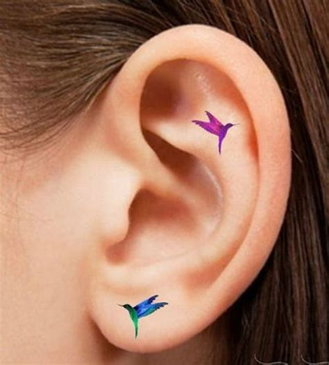small butterfly tattoo behind ear awesome ideas to get lovely hummingbird tattoos on ear for
