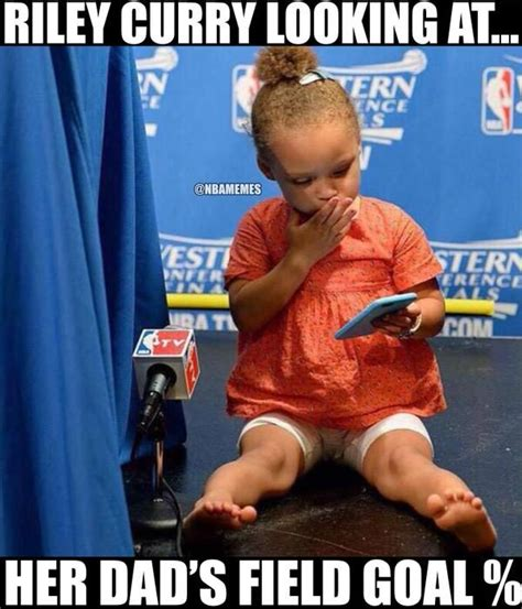 Riley Meme - even riley curry cannot believe it warriors http