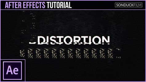 tutorial motion design after effects after effects tutorial glitch digital distortion effect