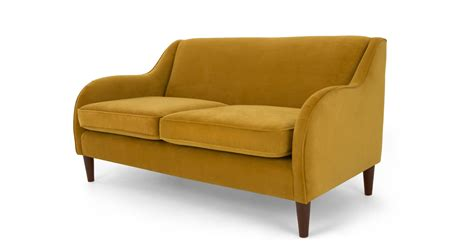 plush sofas helena 3 seater sofa plush turmeric velvet made com