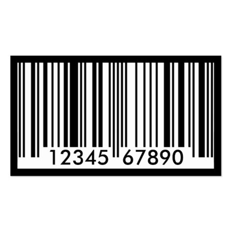 barcode identification business card template zazzle