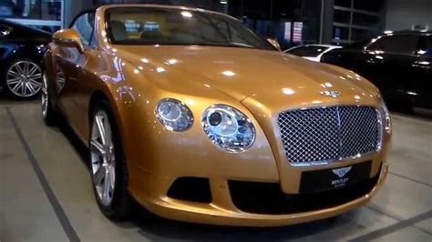 golden bentley golden bentley continental gt convertible hd youtube