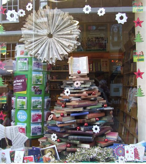 the upcycled christmas tree oxfam bookshop petergate york