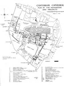 Canterbury Cathedral Floor Plan by Medieval Canterbury