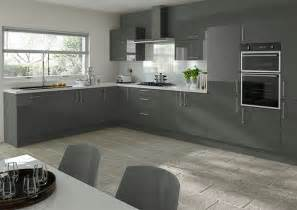 Red Gloss Kitchen Cabinets - ultragloss storm grey kitchen doors from 163 5 50 made to measure