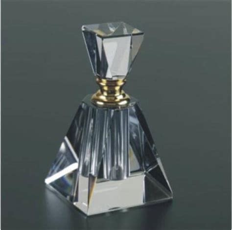 Water Vases Engraved Crystal Perfume Bottles Pyramid Shaped